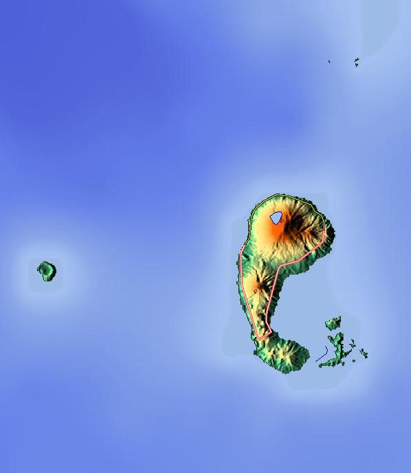 Karengetang Relief Map