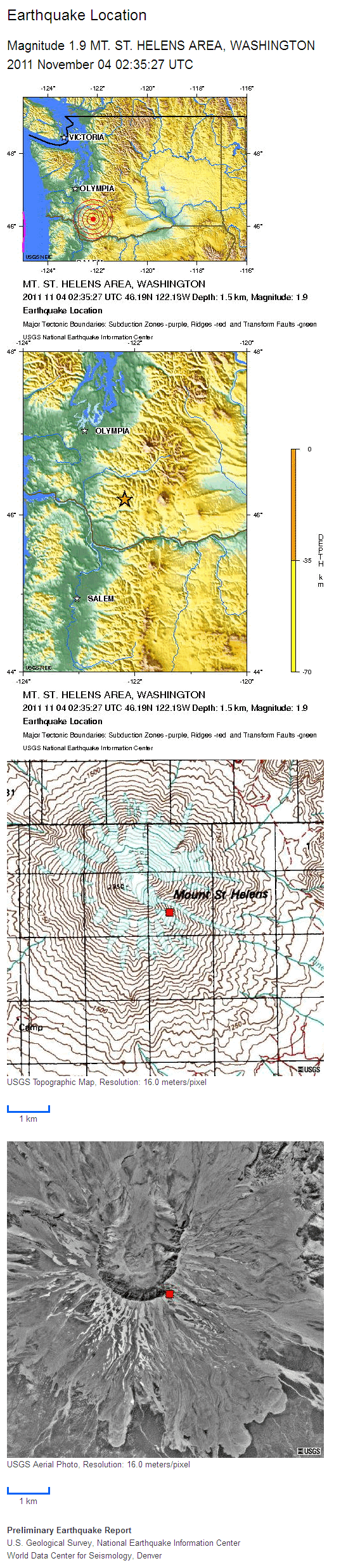 Mt St Helens Location Maps